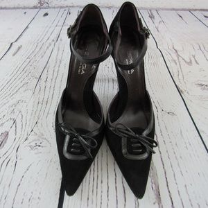 Via Spiga Black Pointy Shoes - 7.5 Made in Italy